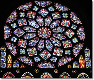 Stained Glass Rose Window, Chartres, France