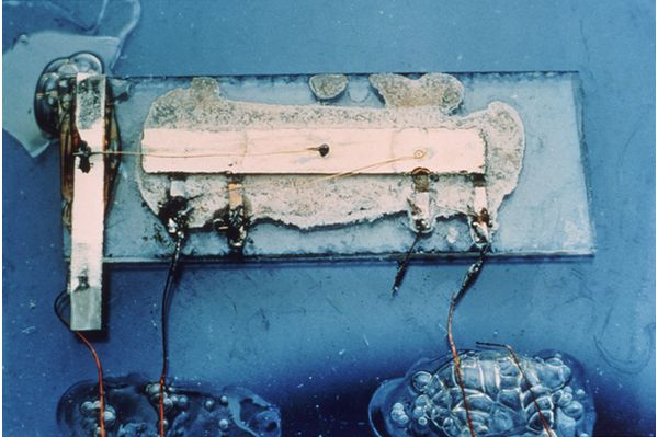 Jack Kilby's original integrated circuit.