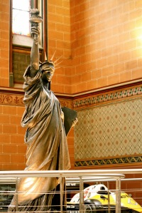 The museum collection includes the original model of the Statue of Liberty by Frédéric Auguste Bartholdi.
