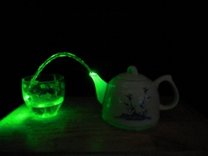 Green Tea - Coherence to Chaos, Laser Art, Gravity Discovery Centre