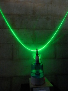 Light Cone - Coherence to Chaos, Laser Art, Gravity Discovery Centre