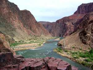 Bottom of the Grand Canyon, Colorado River, near Phantom Ranch