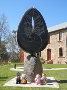 Angel of Hahndorf, by Craig Medson, Australia Corner of Main and Balhannah Roads, Hahndorf