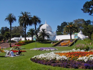 The Conservatory of Flowers opened in 1878