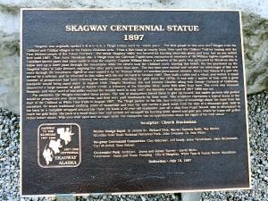 Skagway Centennial Statue Plaque