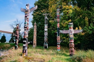 Stanley Park first nations totem poles