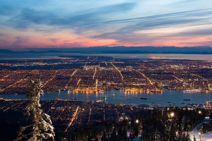 Vancouver skyline from Grouse Mountain