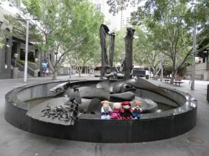 Herald Square, Tank Stream Fountain, 1981 by Stephen Walker