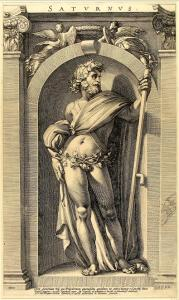16th century engraving of Saturnus