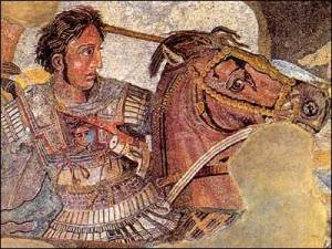 House of the Faun - The Battle of Alexander mosaic detail