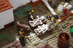 Dr Estelle Lazer, aka Indiana Bones, in Lego Pompeii @ The Nicholson