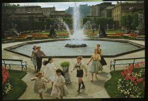The Sound of Music Scene in Mirabell Gardens
