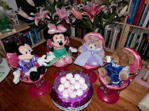 Minnie as Ariel and Madeleine as Jasmine