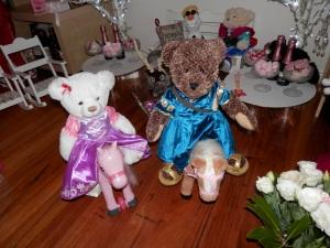 Ellie as Rapunzel and Olivia as Merida