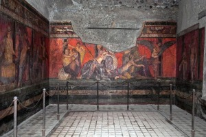 Roman fresco at Villa dei Misteri
