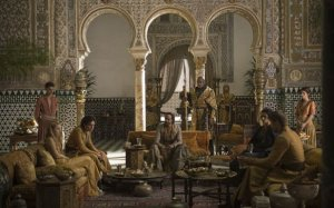 "Scene from ""Games of Thrones""  in the Alcázar of Seville"