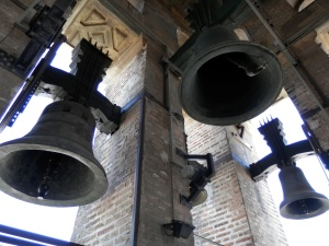 The bells in La Giralda, the bell tower of the Seville Cathedral