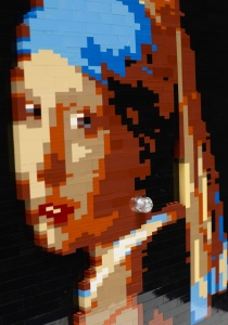 "Girl with a Pearl Earring Sawaya has used 3D blocks to reinterpret famous works of art, such as his version of Vermeer's masterpiece. He hopes they are an accessible way to talk to children about art history. ""A blurred photo of it should look like a blurred photo of the original"""