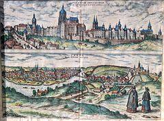 Prague Castle in 1595
