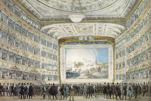 Interior of La Fenice in 1837