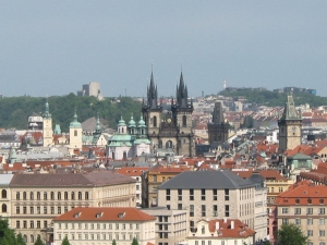 View from Tower of St Nicholas Church Lesser Town, Prague