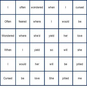 Square Poem by Lewis Carroll