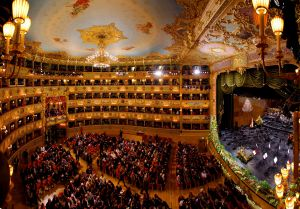 Interior of La Fenice in 2015