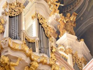 Main organ at St Nicholas Church, Lesser Town, Prague