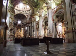 Interior of St Nicholas Church, Lesser Town, Prague