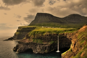 Gásadalur Village on Faroe Islands