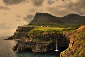 Gásadalur Village on Faroe Islands