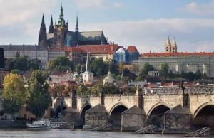 The castle and Charles Bridge, Prague