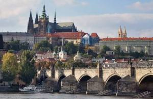 The castle and Charles Bridge, Prague