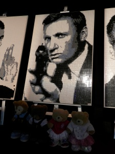 Lego portrait of James Bond actor Daniel Craig, By Ryan McNaught