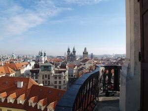 View of Prague from the Astronomical Tower, Klementinum, Prague