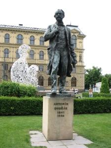 Statue of Antonín Dvořák, Jan Palach Square, Dvořák Hall