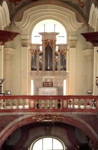 Small organ at St Nicholas Church, Lesser Town, Prague