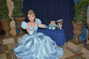 With Cinderella in her castle at the Magic Kingdom WDW