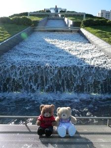 Hermann Park, McGovern Centennial Gardens, Waterfall on the mount