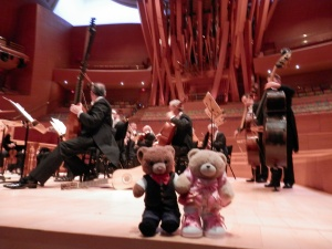 On the stage at Walt Disney Concert Hall :smile: