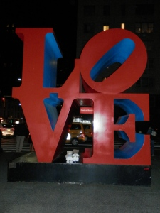 Avenue of the Americas, NYC - LOVE, by Robert Indiana, polychrome aluminium