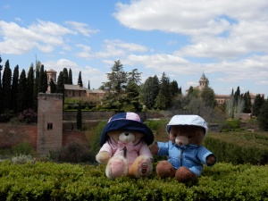 Puffles and Honey at the Alhambra