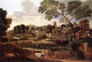 Landscape with the Funeral of Phocion, Nicolas Poussin