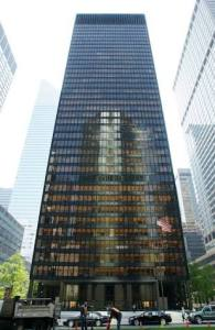 "Wright called the Seagram building ""Wiskey building on a pink tray."""