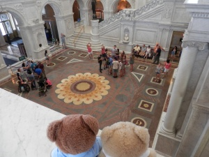 Library of Congress - View of the Great Hall mosaic floor from the second floor