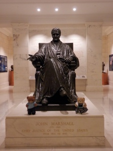 Supreme Court - Statue of John Marshall, Chief Justice 1801-1855
