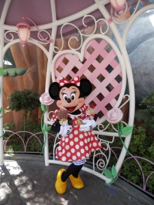 Minnie with Puffles and Honey at Disneyland