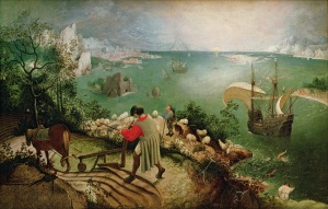 Landscape with the Fall of Icarus, c.1555 by Bruegel, Pieter the Elder