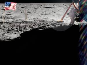 Neil Armstrong on the lunar surface. As commander of Apollo 11, Neil Armstrong took most of the photographs from the historic moonwalk, but this rare shot from fellow moonwalker Buzz Aldrin shows Armstrong at work near the lunar module Eagle.