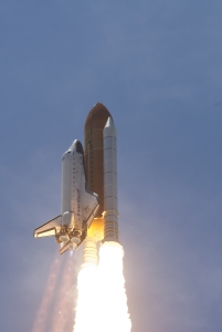 Space Shuttle Main Engines Firing